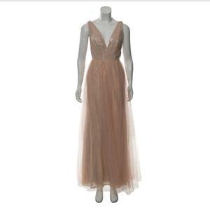Fame & Partners Sequined Sleeveless Dress Tulle Pi